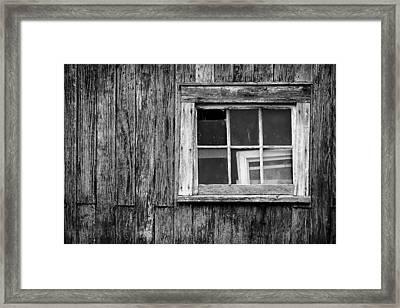 Windows In The Window Framed Print by Jeff Burton