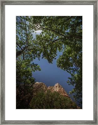 Windows In Zion Framed Print