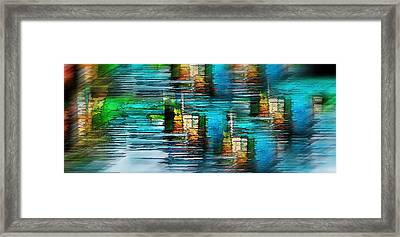 Windows Into The Blue Framed Print
