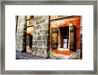 Windows Into The Past Framed Print by Alison Tomich