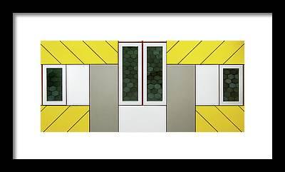 Cube House Framed Prints