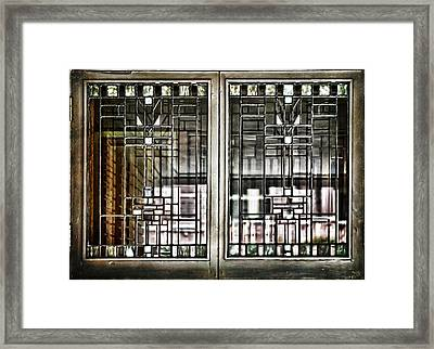 Windows Of A Prairie House  Framed Print