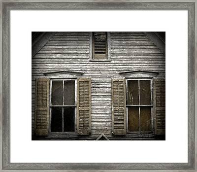 Windows Of Abandon Framed Print