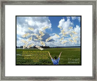 Windows Of Heaven Framed Print