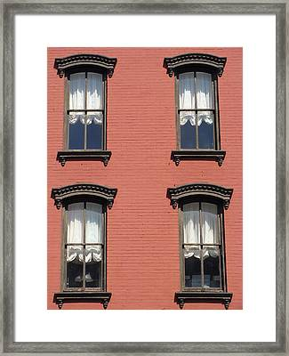 Framed Print featuring the photograph Window's Of Hudson Ny by Ira Shander