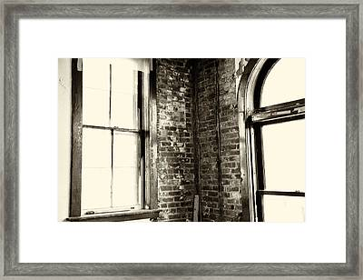 Windows Of Time Framed Print by Karol Livote