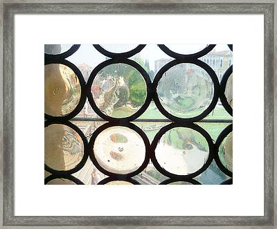 Windows Of Venice View From Academy Of Art Framed Print