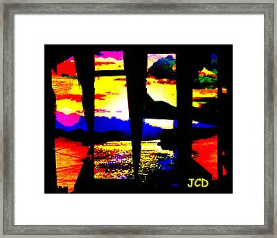 Windows On A Wonderful Scenery Framed Print by Jean-Claude Delhaise