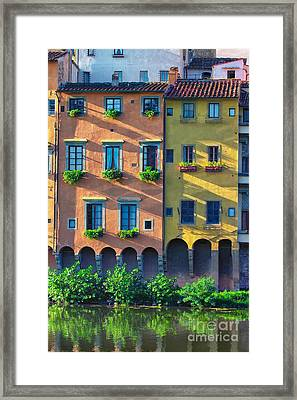 Windows On The River Arno Framed Print