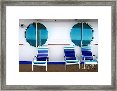 Windows Reflecting The Sea Framed Print by Amy Cicconi