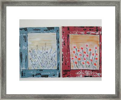 Framed Print featuring the painting Windows To The Basques by Sharyn Winters