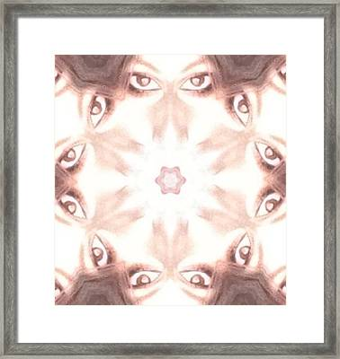 Windows To The Soul Framed Print by  Julia Gatti