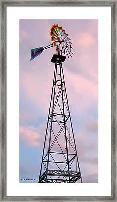 Framed Print featuring the photograph Windpump by Brian Wallace