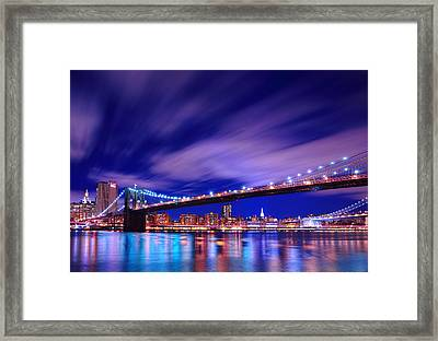 Winds And Lights Framed Print by Midori Chan