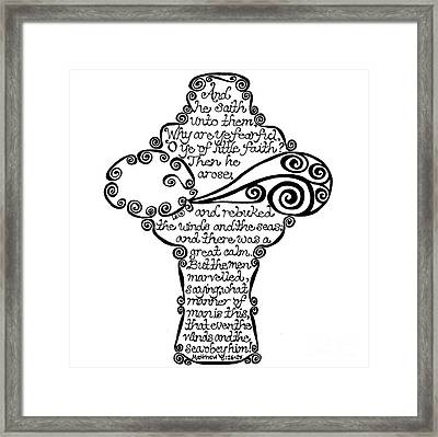 Winds Cross Framed Print by Leigh Eldred