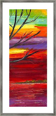 Winds Of Change Right Framed Print by Jessilyn Park