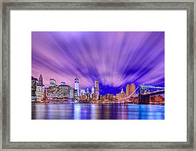 Winds Of Lights Framed Print by Midori Chan