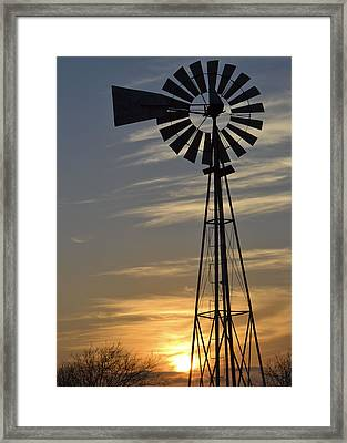 Windset Framed Print by Teresa Dixon