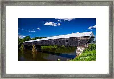 Windsor - Cornish Covered Bridge. Framed Print