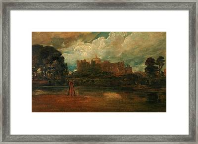 Windsor Castle, Attributed To Peter Dewint Framed Print by Litz Collection
