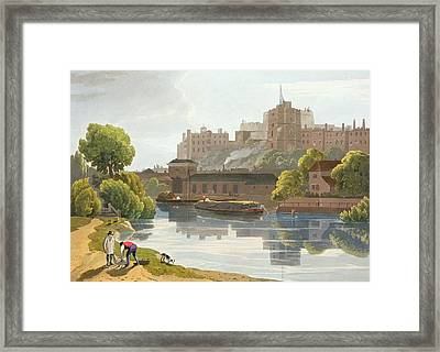 Windsor Castle, From A Compilation Framed Print by William Daniell