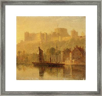 Windsor Castle From The Thames, William Daniell Framed Print by Litz Collection