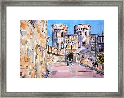 Framed Print featuring the painting Windsor Castle by Geeta Biswas