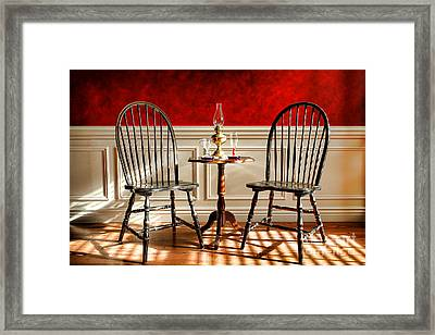 Windsor Chairs Framed Print by Olivier Le Queinec
