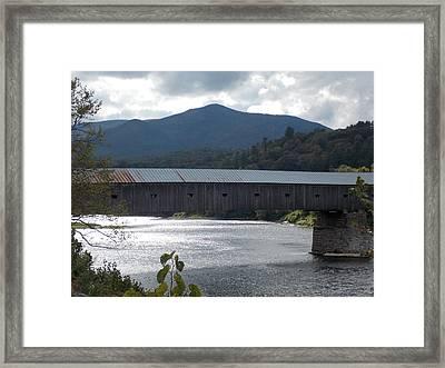 Windsor Cornish Bridge Framed Print by Catherine Gagne