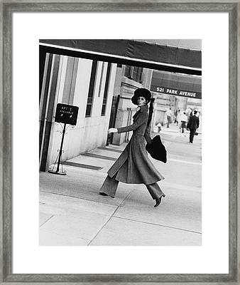 Windsor Elliot Walking Toward An Apartment Framed Print