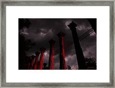 Windsor Fire Framed Print by Ron  Burt