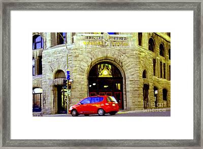 Windsor Train Station Canadian Pacific Downtown Montreal Historic Quebec Landmarks Carole Spandau Framed Print by Carole Spandau