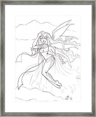 Windsprite Sketch Framed Print by Coriander  Shea