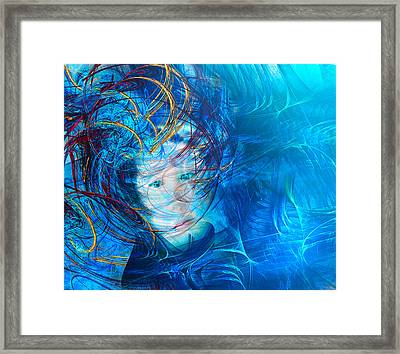 Windstorm Woman Framed Print by Camille Lopez