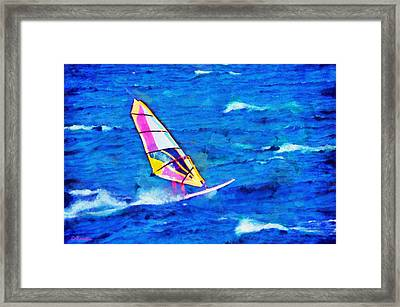 Windsurf Framed Print by George Rossidis