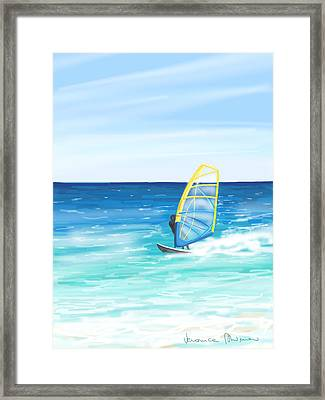 Windsurf Framed Print by Veronica Minozzi