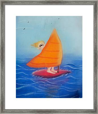 Windsurfer Dude Framed Print