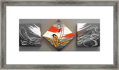 Windsurfer Spotlighted Framed Print by Darren Robinson