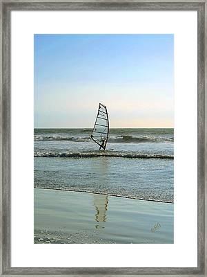 Windsurfing Framed Print by Ben and Raisa Gertsberg