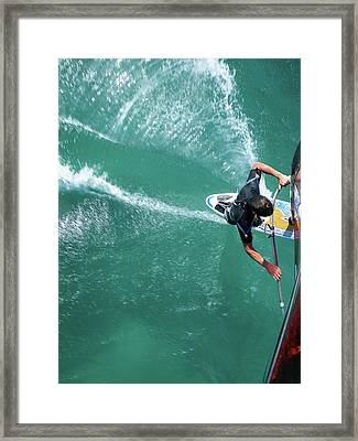 Windsurfing Framed Print by Chris Knapton