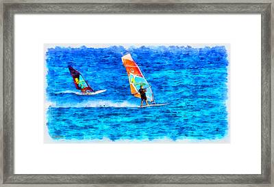 Windsurfing Framed Print