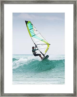 Windsurfing Off Punta Paloma Tarifa Framed Print