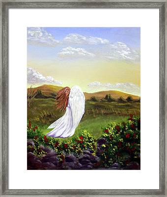 Windswept Angel Framed Print