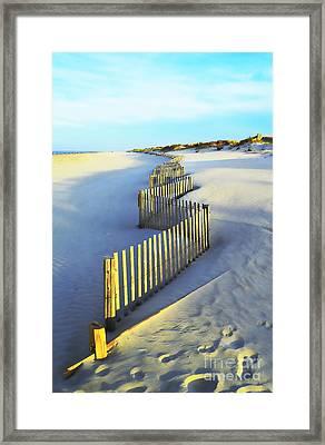 Windswept At Sunset - Jersey Shore Framed Print
