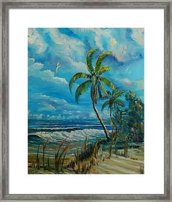 Windswept Beach Framed Print