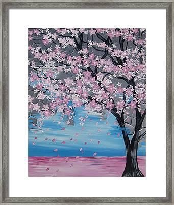 Windswept Blossoms Framed Print