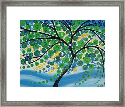 Windswept Framed Print by Cathy Jacobs