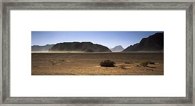 Windswept Desert, Wadi Rum, Jordan Framed Print
