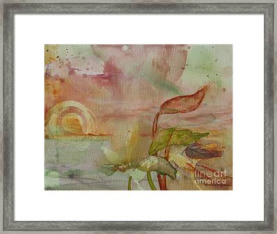 Framed Print featuring the painting Windswept by Robin Maria Pedrero