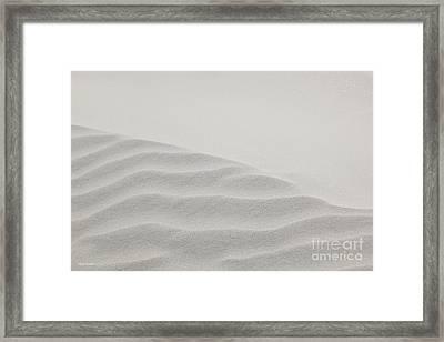 Windswept Sand Dune Framed Print by Michelle Wiarda